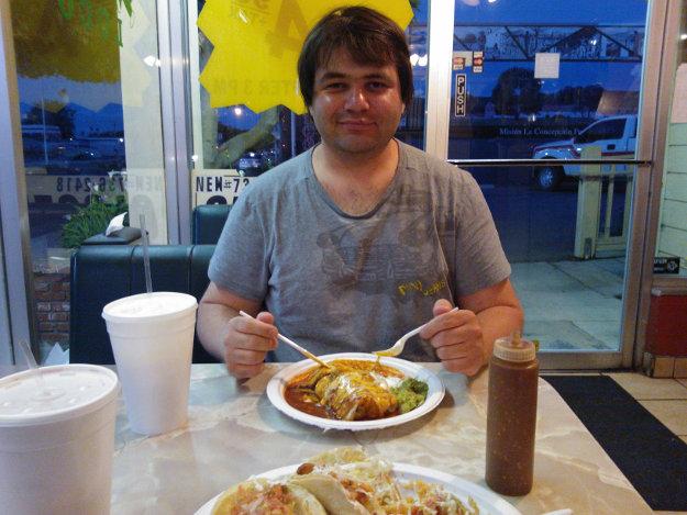 Večeře v Lompoc, California.